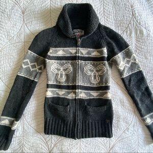 Aritzia TNA Sea to Sky Dark Grey Sweater